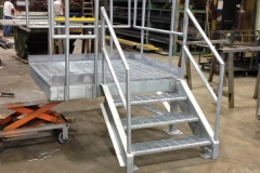 Galvanized-dock-stair
