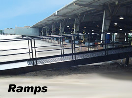 Steel Ramps at Distribution Facility