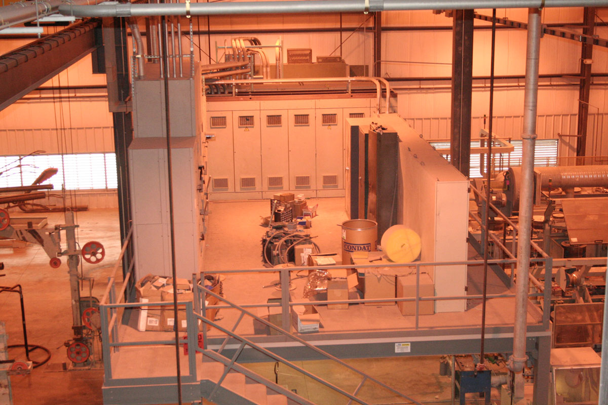 Mezzanine for Supporting Industrial Equipment