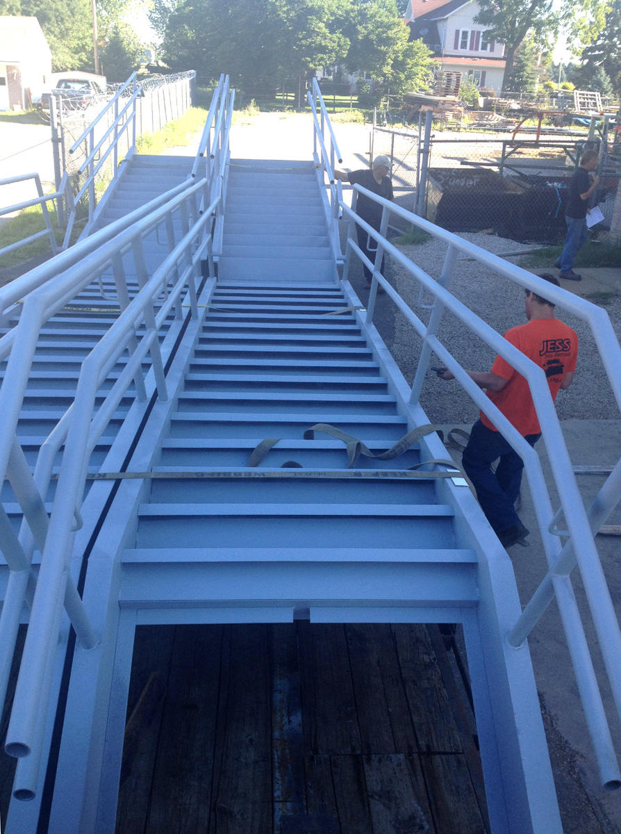 Industrial Husky Pan Stairs