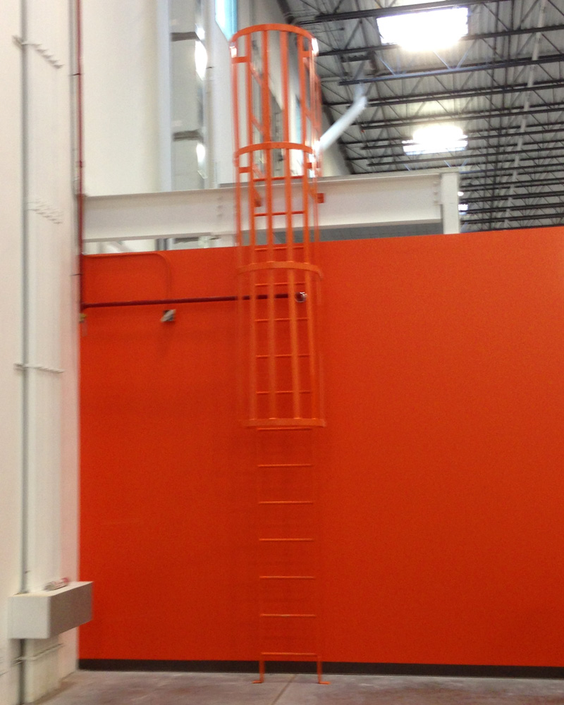 Fixed Safety Cage Ladder