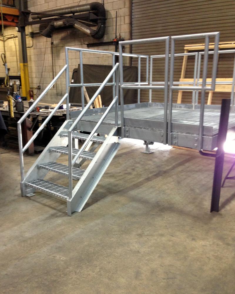 Industrial Galvanized Platform