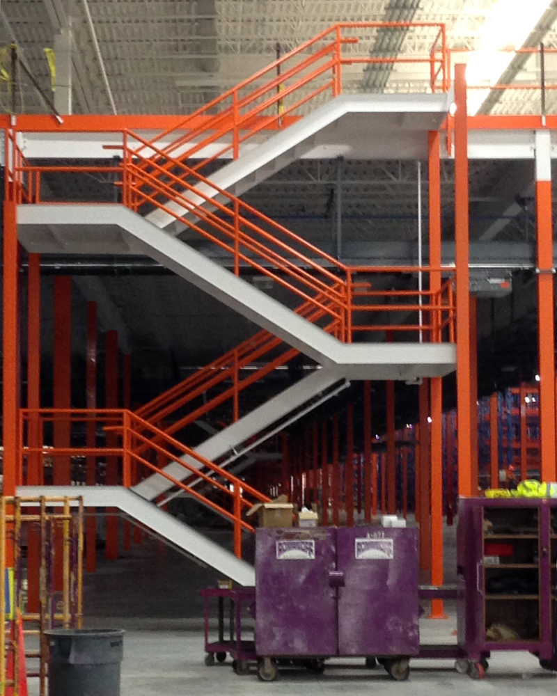 Industrial Steel Stair Landing