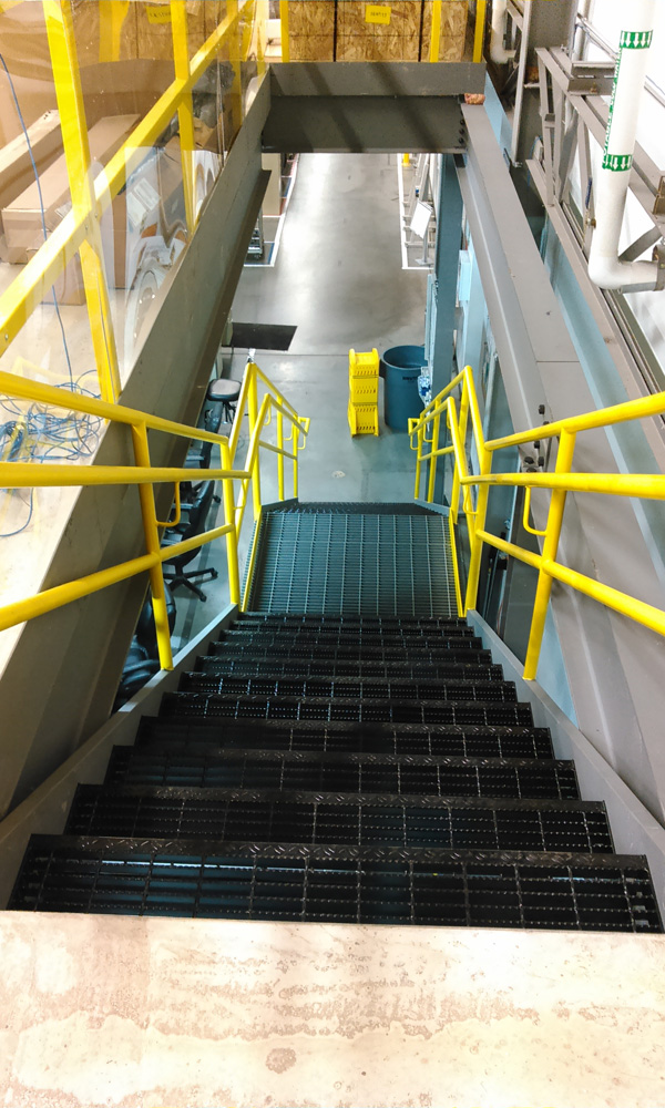 Industrial Steel Straight Run Staircase