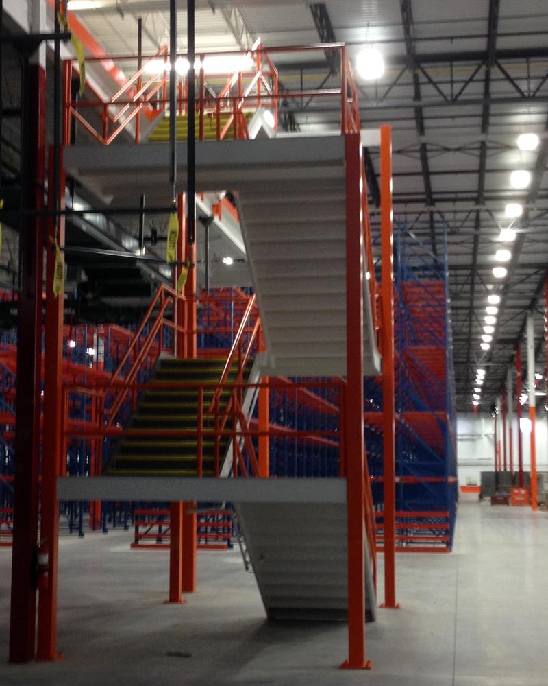 Steel Industrial Staircase Landing