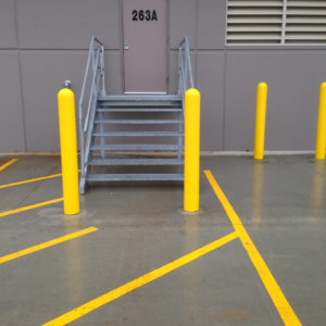 Industrial Steel Loading Dock Stair