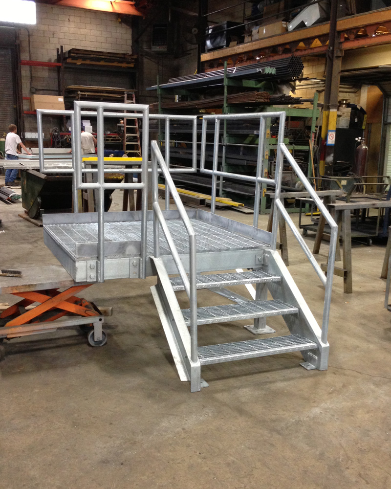 Industrial Galvanized Dock Stair