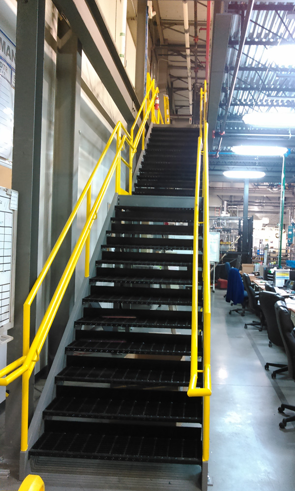 Industrial Straight Run Staircase