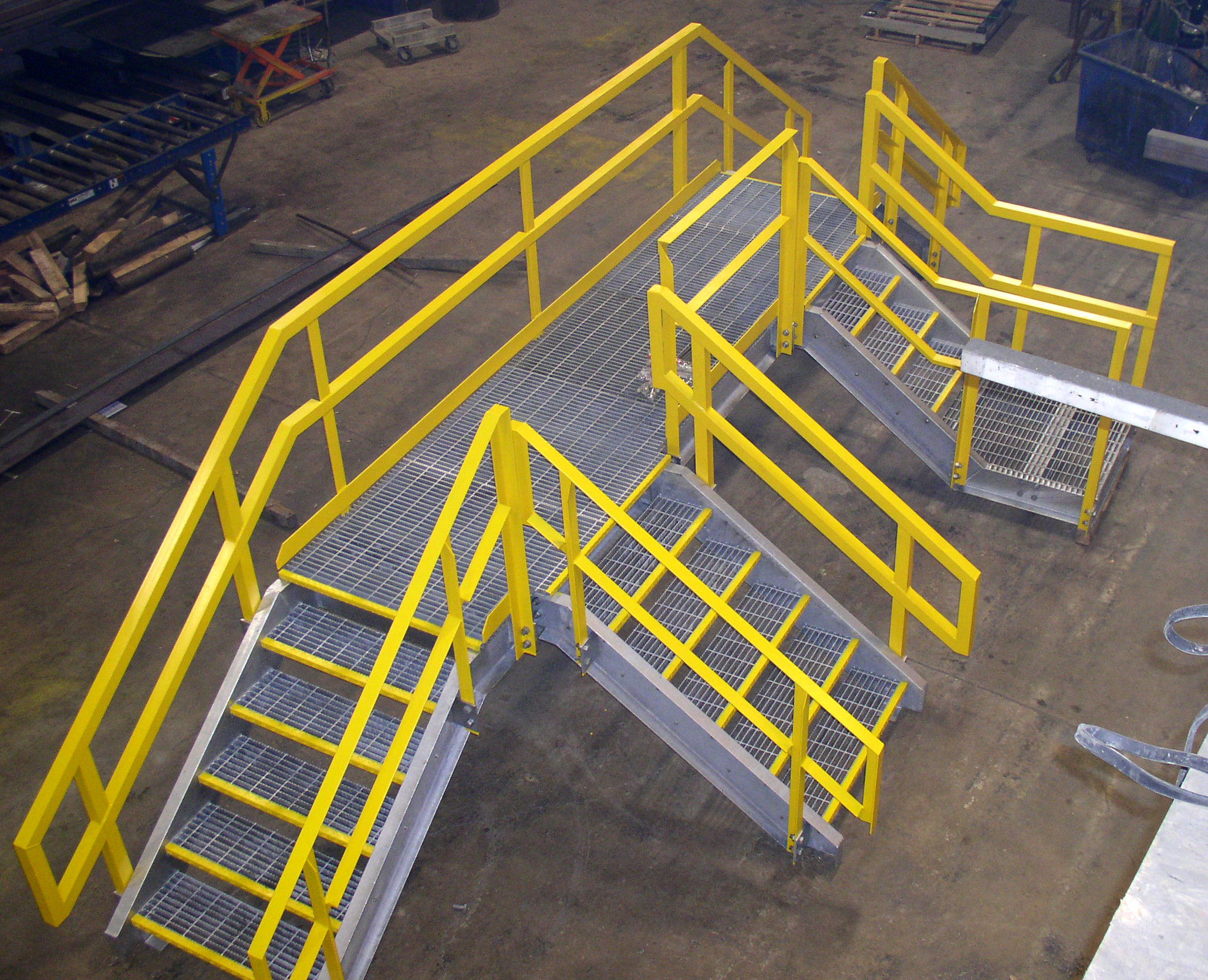 Industrial Steel Catwalk Platform