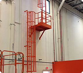 Industrial Fixed Cage Ladder