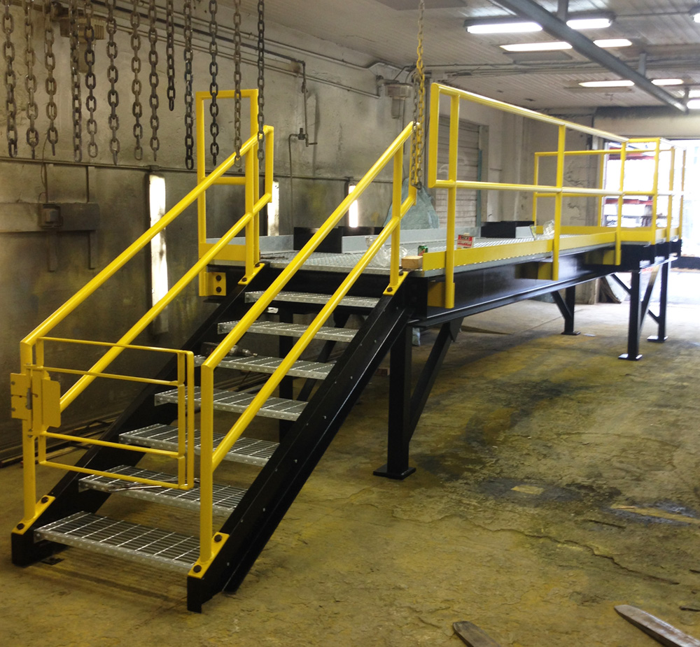 Elevated Work Platform with Stairs